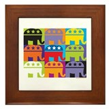 Elephant Diversity Framed Tile