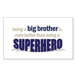 big brother t-shirt superhero Sticker (Rectangular