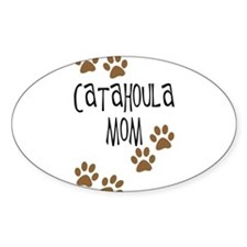 Catahoula Mom Oval Decal