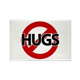 Hugs Not Allowed Rectangle Magnet