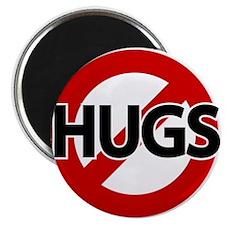 """Hugs Not Allowed 2.25"""" Magnet (10 pack)"""