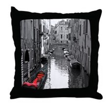 Venice Canal with Gondola Throw Pillow