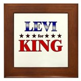 LEVI for king Framed Tile