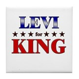 LEVI for king Tile Coaster