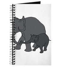 MAMA & BABY ELEPHANT (5) Journal