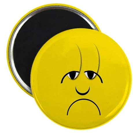 Sad Mood Smiley Magnet by keepsake_arts