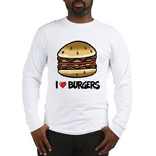 I Love Burgers Long Sleeve T-Shirt
