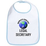 World's Coolest LEGAL SECRETARY Bib