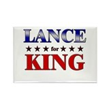 LANCE for king Rectangle Magnet