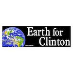 Earth for Clinton bumper sticker
