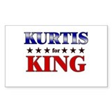 KURTIS for king Rectangle Decal
