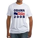 Obama 2008 Bunting Fitted T-Shirt
