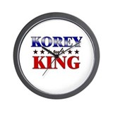KOREY for king Wall Clock