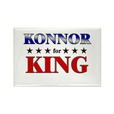 KONNOR for king Rectangle Magnet