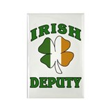 Irish Deputy Shamrock Rectangle Magnet