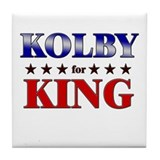 KOLBY for king Tile Coaster