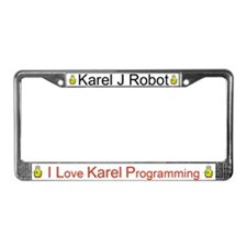 Karel J Robot License Plate Frame