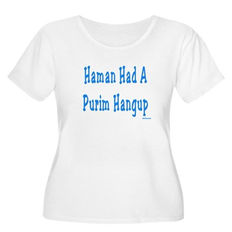 Haman had a Purim Hangup Women's Plus Size Scoop N