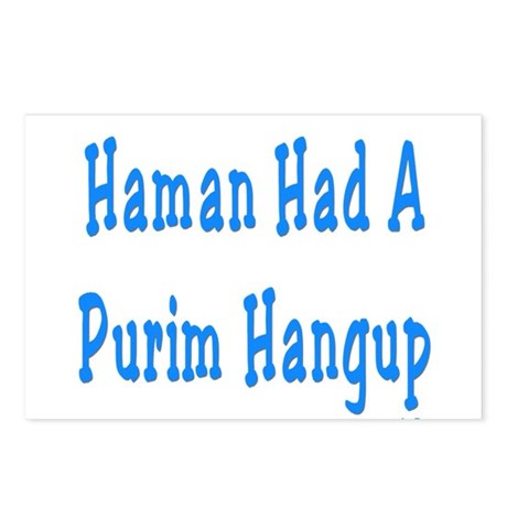Haman had a Purim Hangup Postcards (Package of 8)