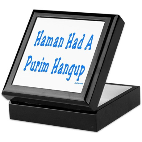Haman had a Purim Hangup Keepsake Box