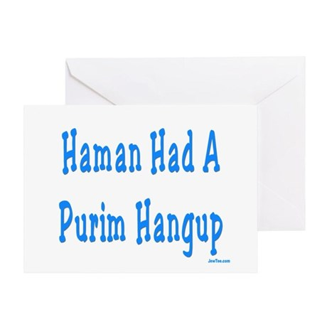 Haman had a Purim Hangup Greeting Card