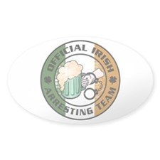 Irish Arresting Team Oval Decal