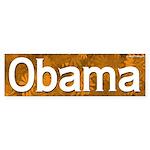 Hot Orange Obama Bumper Sticker
