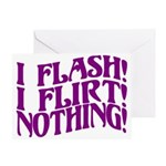 Flirty Flasher Greeting Card