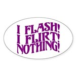 Flirty Flasher Oval Sticker