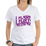 Flirty Flasher Women's V-Neck T-Shirt