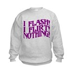 Flirty Flasher Kids Sweatshirt