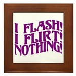 Flirty Flasher Framed Tile