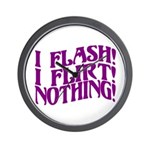 Flirty Flasher Wall Clock