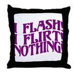 Flirty Flasher Throw Pillow