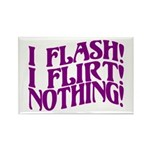 Flirty Flasher Rectangle Magnet (10 pack)