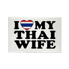 I Love My Thai Wife Rectangle Magnet