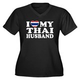 I Love My Thai Husband Women's Plus Size V-Neck Da