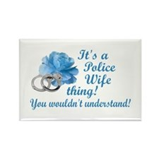 Police Wife Thing Rectangle Magnet