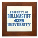 Bullmastiff University Framed Tile
