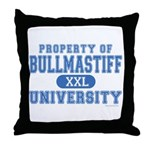 Bullmastiff University Throw Pillow