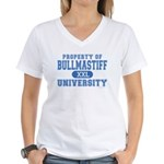 Bullmastiff University Women's V-Neck T-Shirt