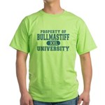 Bullmastiff University Green T-Shirt