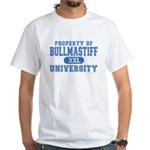 Bullmastiff University White T-Shirt