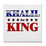 KHALIL for king Tile Coaster