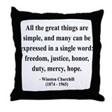 Winston Churchill 5 Throw Pillow