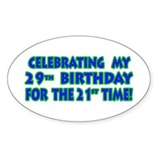 Funny 50th Birthday Cards & G Oval Decal