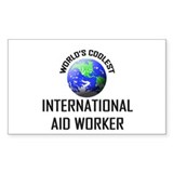 World's Coolest INTERNATIONAL AID WORKER Decal