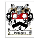 Saunders Family Crest Small Poster