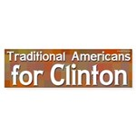 Traditional Americans for Clinton sticker