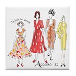 Fashion Accessorize Tile Coaster